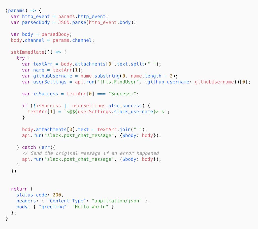 The webhook operation code