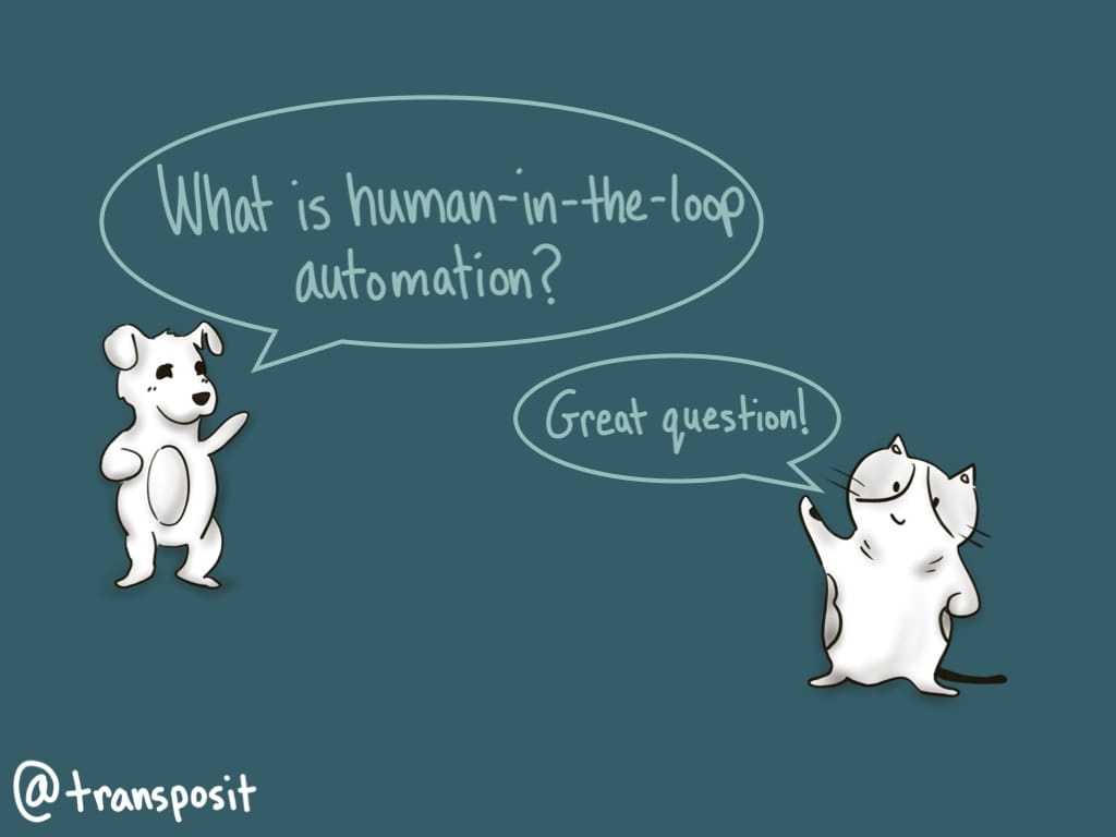 """Datadog: """"What is human-in-the-loop automation?"""" DevOps Cat: """"Great question!"""""""